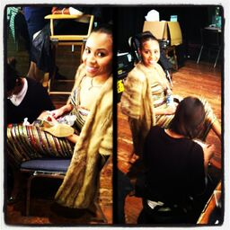 Preparing for my screen in the movie Sparkle