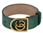 Gucci Bracelet In Leather Wtih Double Gs